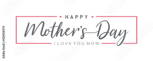 Mother day. Happy Mother's Day. Mother day poster. Vector illustration for women's day, shop, discount, sale, flyer, decoration. Lettering style.