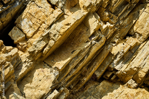 Layers of limestone plates in the Germanic Triassic of the Harz foreland, obliqu Fototapet