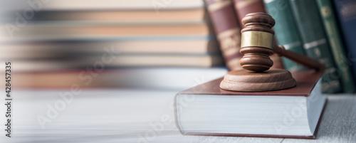 Fotografia judge on law book