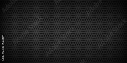 Slika na platnu Abstract fiber carbon texture with black color background ,wallpaper illustratio