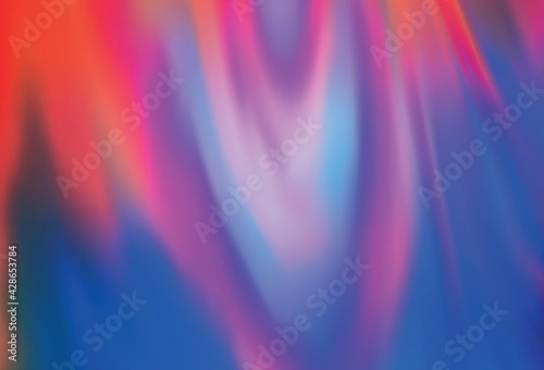 Light Blue, Red vector blurred shine abstract template. Fototapet