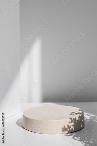 Fotografia Abstract minimal scene with geometrical form