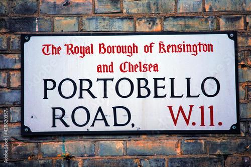 London Street Sign, Portobello Road #428820357