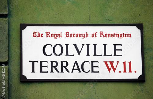 London Street Sign, COLVILLE TERRACE #428820375
