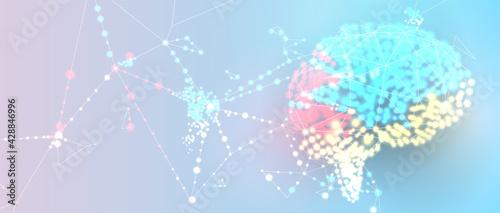 Obraz na plátne Conceptual technology illustration of artificial intelligence