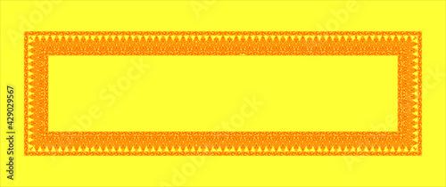 Canvas Frises Arabes Florales en 2 tons de jaune