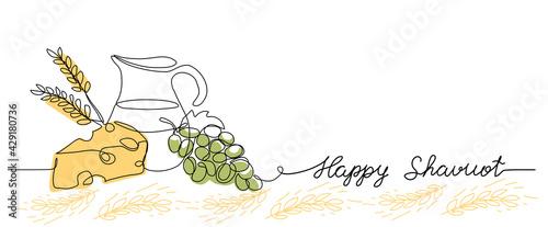 Fotografia happy Shavuot vector web banner background