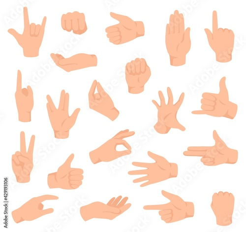 Flat hands Fototapeta