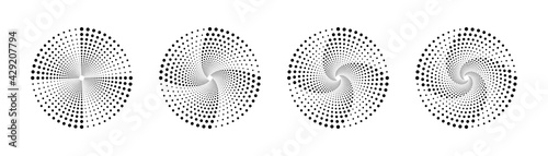 Canvas Print Halftone vortex