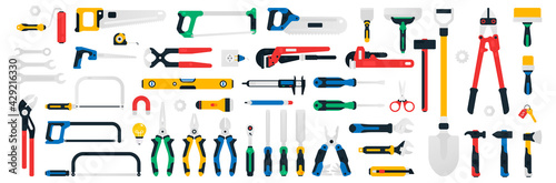 Wallpaper Mural Large collection of construction tools