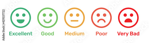 Valokuva Satisfaction rating