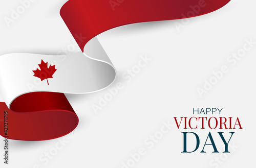 Fototapeta Victoria Day Canada Holiday banner background