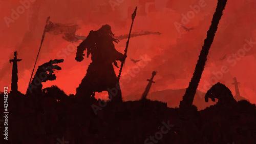 Obraz na plátně The battle is over
