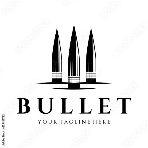bullet ammo vintage vector logo illustration template design Tapéta, Fotótapéta