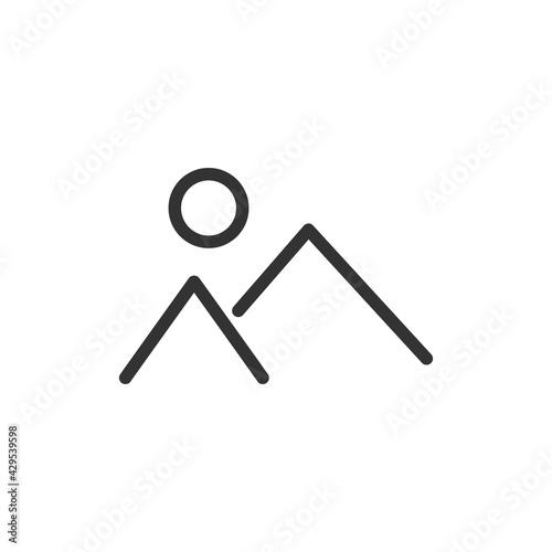 Tablou Canvas Mountain line icon.