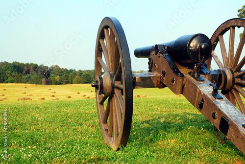 Leinwand Poster Artillery Recalls the American Civil War at Manassas