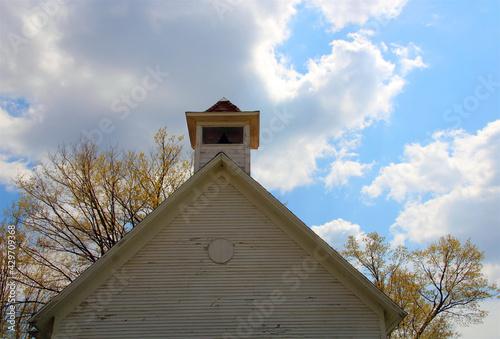 Photo wooden church steeple