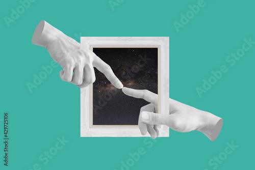 Fototapeta Digital collage modern art