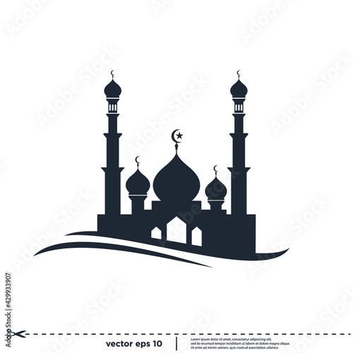 Obraz na plátně mosque islamic icon vector illustration simple design element