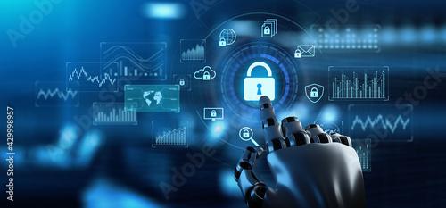 Obraz na płótnie Cybersecurity Data privacy Hacker attack protection
