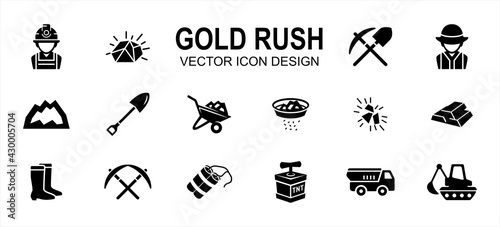 Photo Simple Set of gold rush mining Related Vector icon user interface graphic design