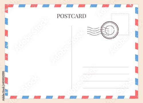 Obraz na plátně Postcard template