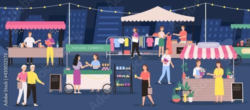 Tablou Canvas Night market