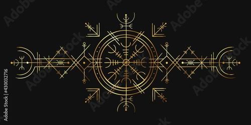 Wallpaper Mural Viking magic symbol