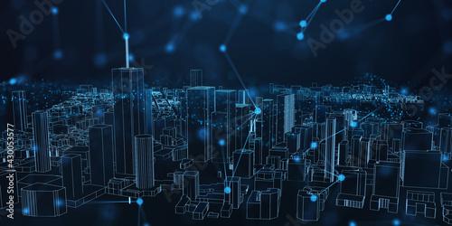 Abstract futuristic - Modern technology background design concept Fototapeta
