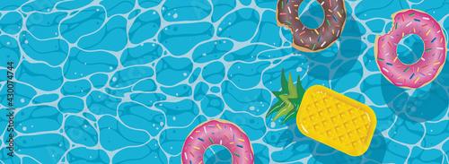 Obraz na płótnie Summer background for flyers or pool party invitations