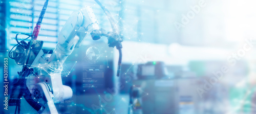 Stampa su Tela Engineering smart factory automated machine AR augmented reality technology futu
