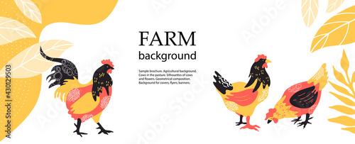 Obraz na plátne Horizontal agricultural background