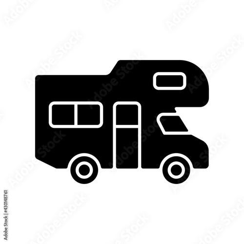 Fotografiet Recreational vehicle black glyph icon