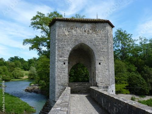 Canvas Print Pont Sauveterre de Béarn
