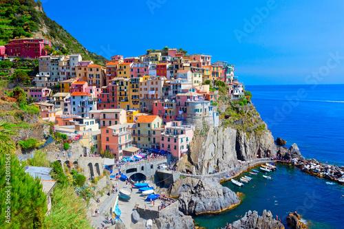 Fototapeta Manarola, Cinque Terre, Italien