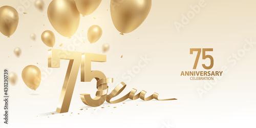Billede på lærred 75th Anniversary celebration background