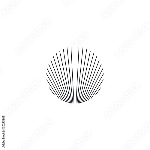 Fotografering Abstract graphic illustration of thin lines forming an illusion in a circular sh