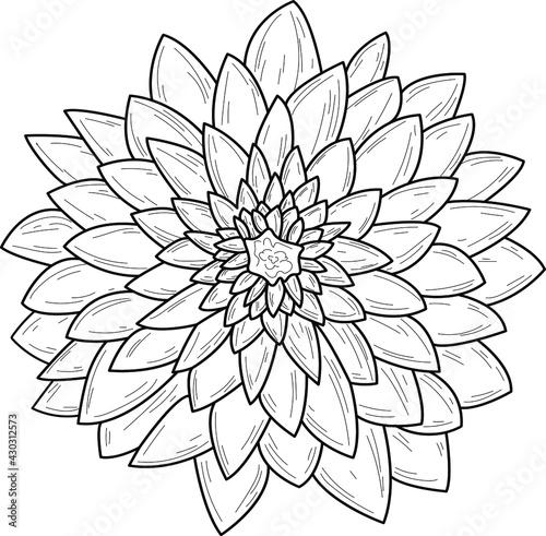 Cuadros en Lienzo Doodle flower isolated line