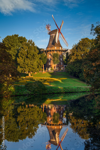 Famous old windmill in Bremen, Germany