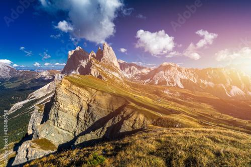 Fotografie, Obraz View on Seceda peak