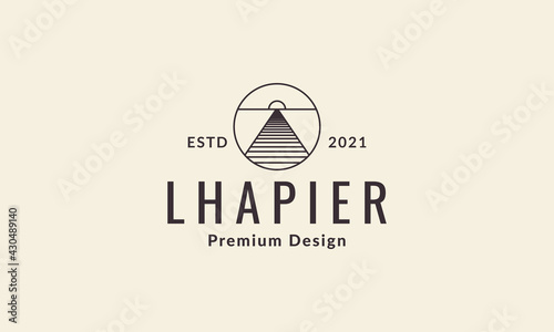 Leinwand Poster lines pier or dock with circle logo vector symbol icon design graphic illustrati