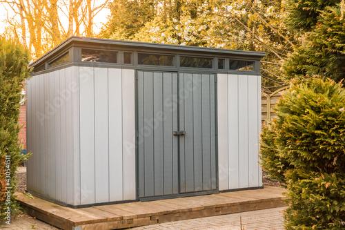 Modern summer house made of plastic Fototapeta