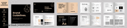 Canvas-taulu Square Brand Manual Template, Simple style and modern layout Brand Style ,Brand