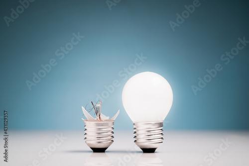 Fail and Success Light Bulb