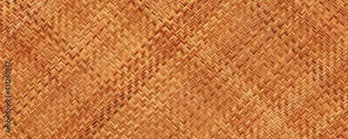 Fototapeta premium Woven bamboo texture background