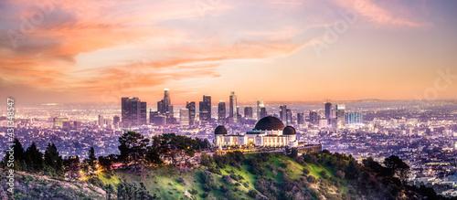 Fotografia, Obraz Los Angeles Griffith Observatory sunset