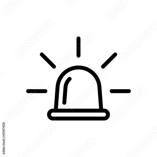 Carta da parati Emergency siren of ambulance or police, simple icon