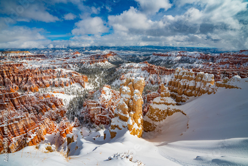 Wallpaper Mural Heavy Snows Cover Fairyland Hoodoos in Bryce Canyon
