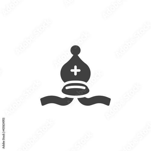 Fotografia, Obraz Bishop chess vector icon