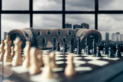 Fotografía chess board game